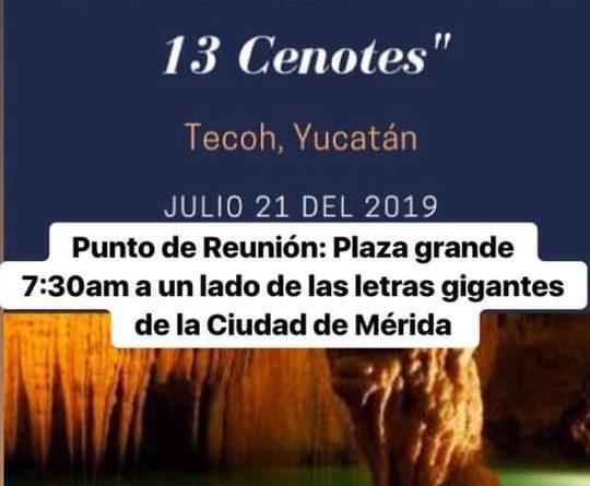 28 Tour «Ruta de los 13 Cenotes» Grutas de Tzabnah 21 de Julio del 2019